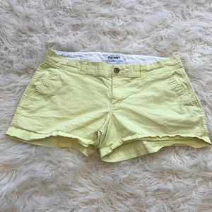 Yellow old navy shorts